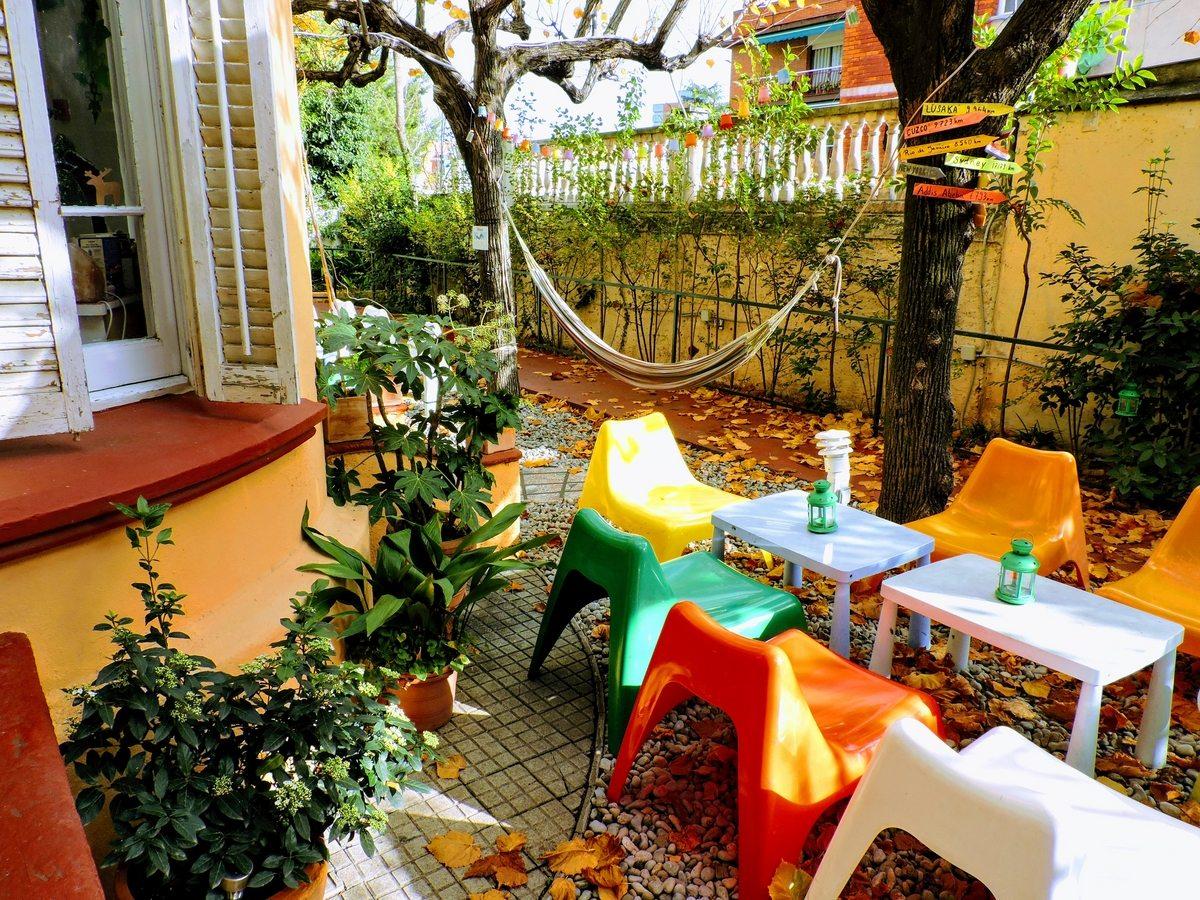 Jardín para conocer nuevos amigos en Barcelona