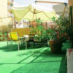 Terrace in Yellow Nest Hostel Barcelona